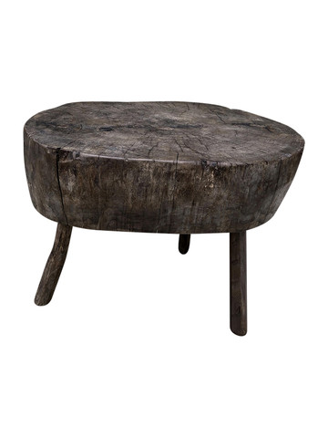 French Primitive Wood Side Table 35027
