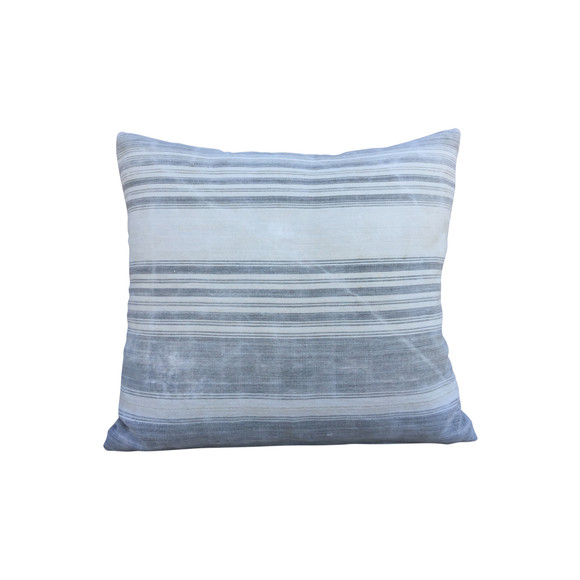 French Antique Stripe Homespun Linen Pillow 38179