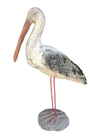 French Cement Stork 31627