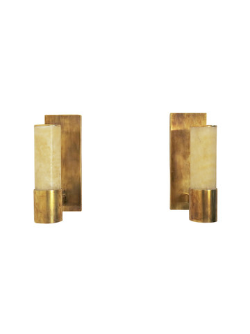 Pair Limited Edition Alabaster Sconces 35919