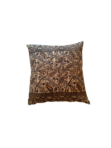 Vintage Persian Hand-Blocked Textile Pillow 24084