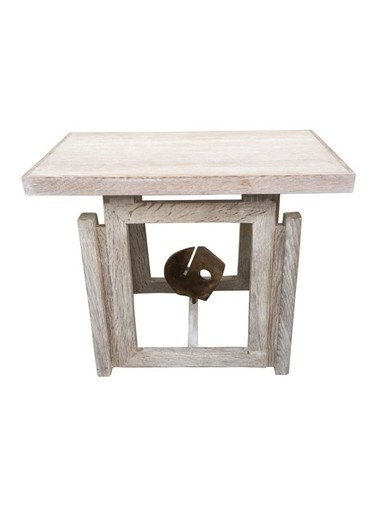 Limited Edition Bronze Element Oak Side Table 33754