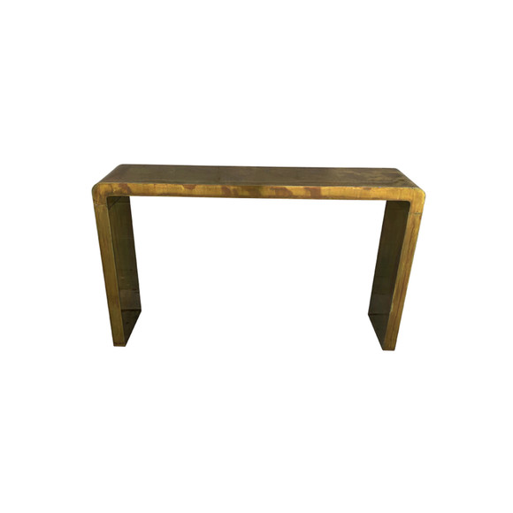 Lucca Limited Edition Patinated Copper Console Table 35363