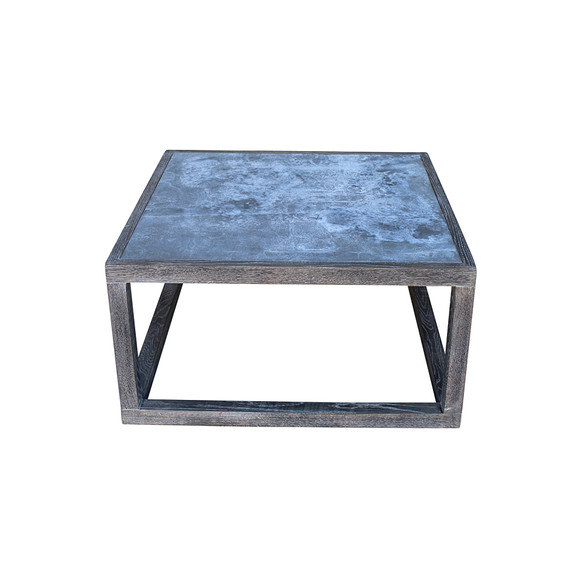 Limited Edition Oak and Zinc Coffee Table Cube 30010