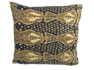 Vintage Indonesian Print Pillow 31296