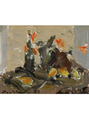 Swedish Oil Still Life Painting 35454