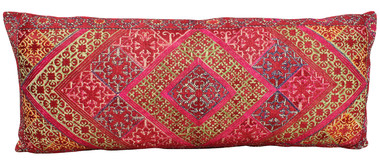 Rare 19th Century Embroidery Textile Pillow 20502