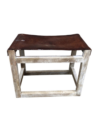 Limited Edition Vintage Leather Stool 35326