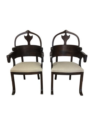 Pair of Lucca Studio Christine Chairs 37233