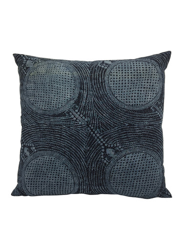 Limited Edition Indonesian Indigo Batik Textile Pillow 34221