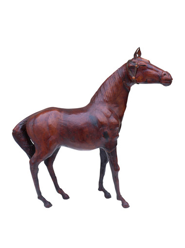19th Century French Leather Horse 31845