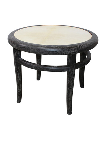 Limited Edition Black Cerused Oak Side Table 34318