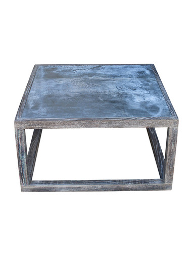 Limited Edition Oak and Zinc Coffee Table Cube 30960