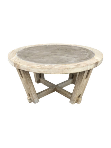 Lucca Studio Dider Round Coffee Table ( Cement top) 36133