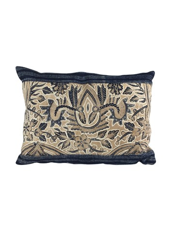 Vintage Indonesian Batik Textile Pillow 19501