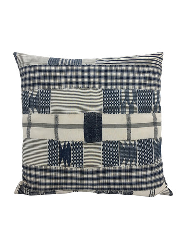 Limited Edition African Patchwork Textile Pillow 34060