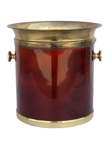 French Lucite and Brass Wine Bucket 31470
