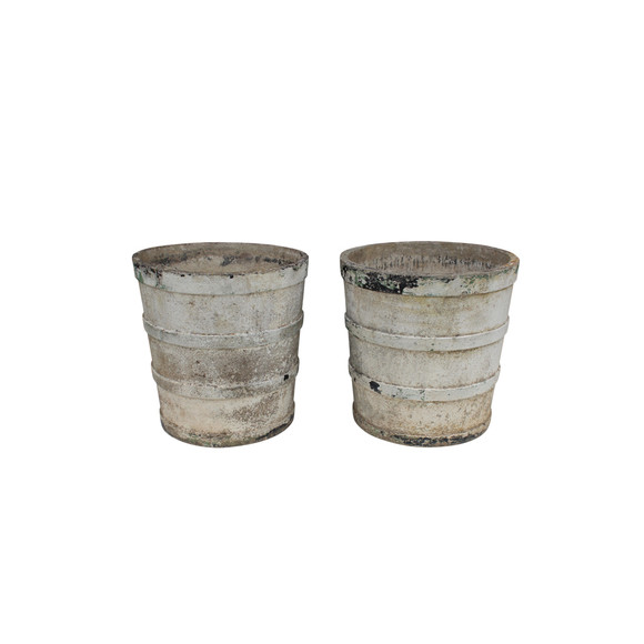 Pair of French Cement Planters 22487