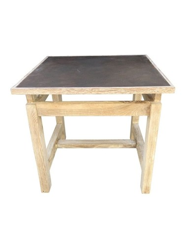 Limited Edition Oak and Industrial Element Side Table 33529