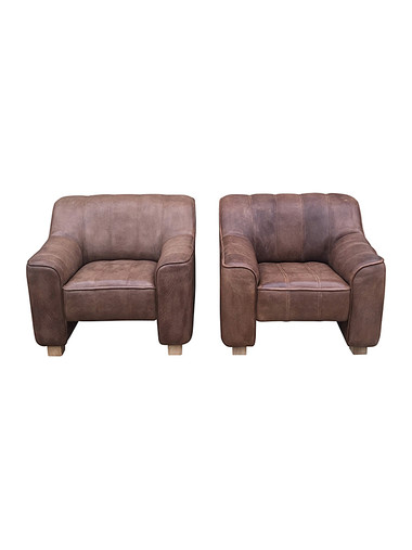 Pair of De Sede Lounge Chairs 32727