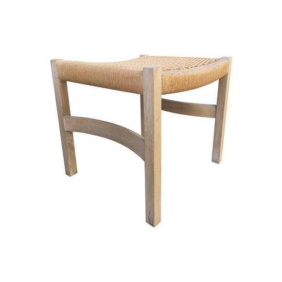 Single Danish Oak Stool 36998