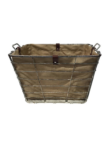 Large Belgian Industrial Iron Bin 30952