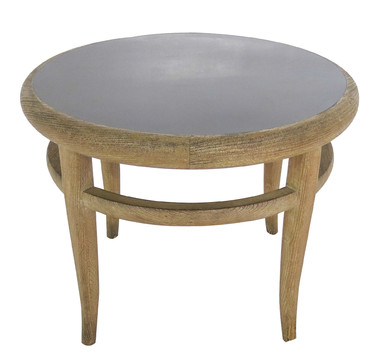 French Oak Round Side Table 25211