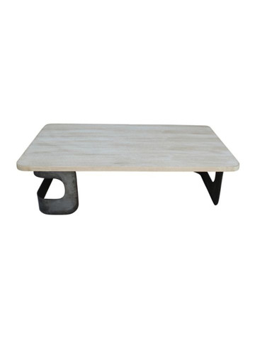 Limited Edition Oak and Industrial Metal Element Coffee Table 27821