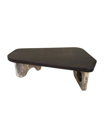 Organic Modern Coffee Table with Unusual Base 35550