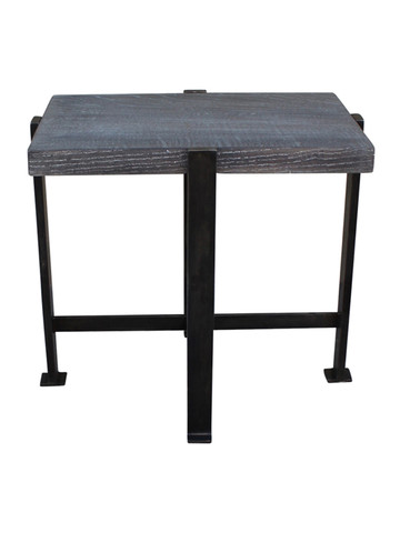 Limited Edition Iron and Oak Side Table 25020