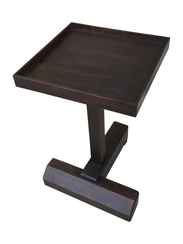 Lucca Studio Rhodes Walnut Side Table 33211