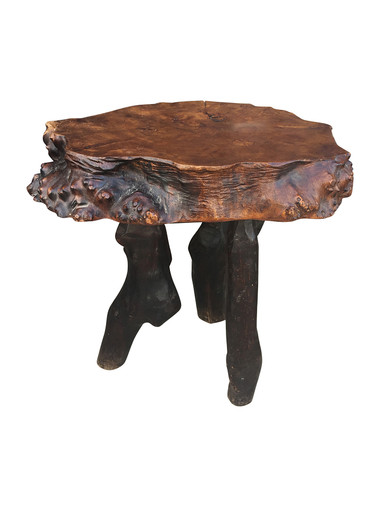 French Organic Wood Side Table 31927