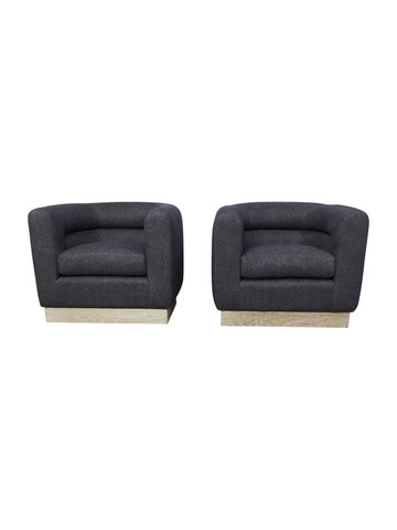 Lucca Studio Pair of Kennedy Chairs with Swivel Base 37199