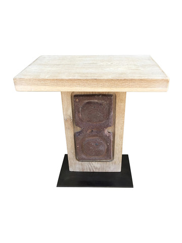 Limited Edition Oak and Ceramic Element Side Table 36146