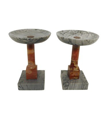 Pair Spanish Marble Stands 31821