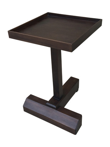Lucca Studio Rhodes Walnut Side Table 33212