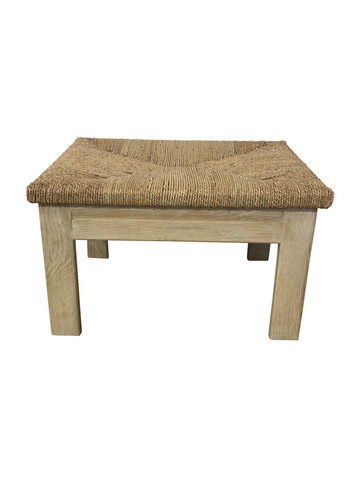 Limited Edition Oak and Rush Ottoman/ Stool 36937