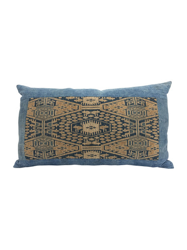 Vintage Central Asia Textile Pillow, down filled 34215