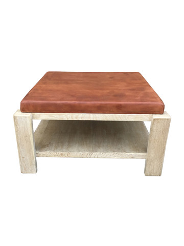 Limited Edition Oak and Leather Coffee Table 36137