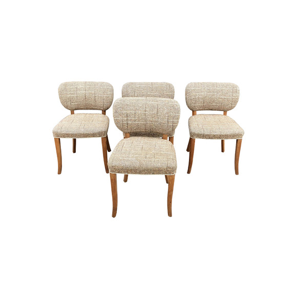 Set of (4) French Antique Dining Chairs 34894