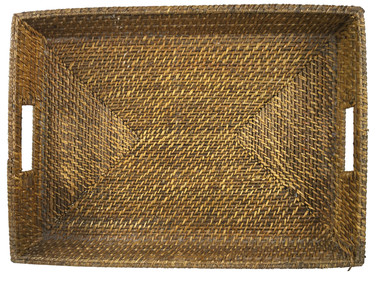 French Rattan Tray with Handles 29581