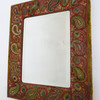 19th Century Embroidered Mirror 29023