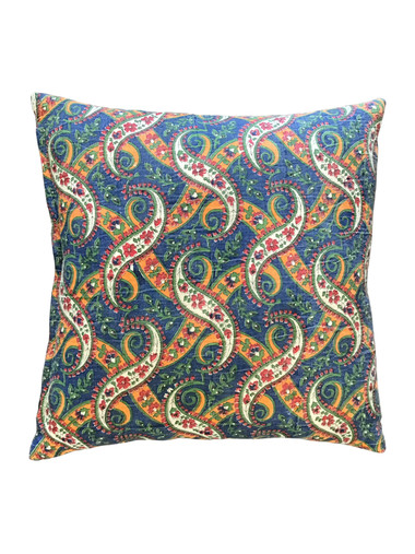 Vintage French Print Textile Pillow 34831