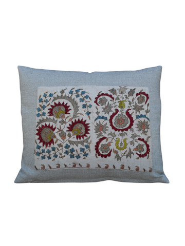 18th Century Turkish Embroidery Textile Element Pillow 27154