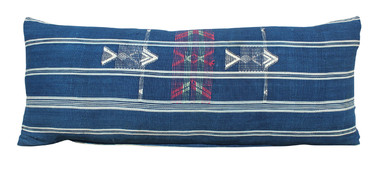 Vintage Indigo and Embroidery Pillow 31380