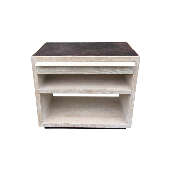 Limited Edition Oak and Leather Night Stand 35003