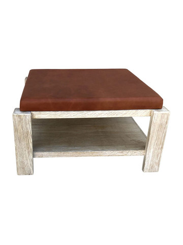 Limited Edition Oak and Leather Coffee Table 36044