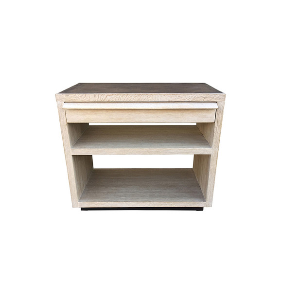 Limited Edition Oak and Leather Night Stand 34438