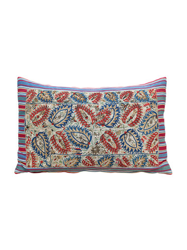 Rare 18th Century Silk Ottoman (Greek Island) Embroidery Pillow 29982