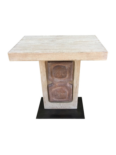 Limited Edition Oak and Ceramic Element Side Table 33594